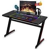 Soontrans Mesa de Juegos para Computadora Mesa Gaming Ergonomic Gaming DeskEscritorio para Juegos de PC Fibra de Carbono(ZA)