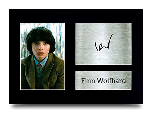 HWC Trading Finn Wolfhard Stranger things Mike Wheeler Geschenk, gedrucktes Autogramm, für Fans von TV-Erinnerungsstücken, A4