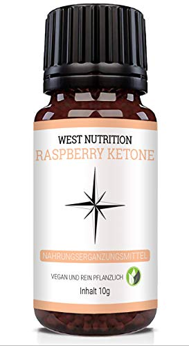 West Nutrition Raspberry Globuli – pflanzliche Fettverbrenner mit Exogene Ketone 1000 – für Männer und Frauen, ebenso für Kinder geeignet – vegan Nahrungsergänzungsmittel, radionisch informiert