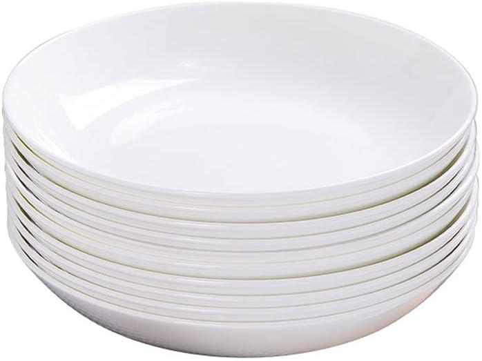 Max 53% OFF Dinner Plates Kansas City Mall Round Ceramic Set Pa Salad The 7inch