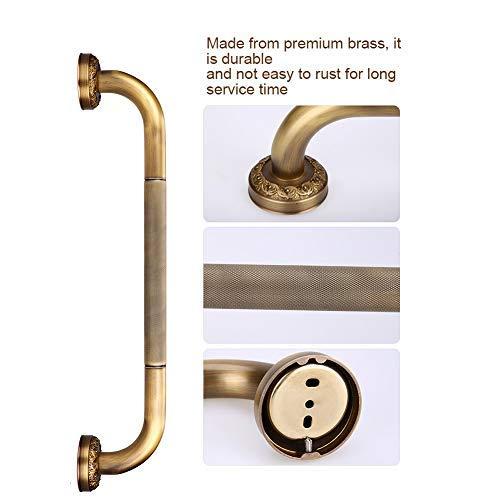 GXMZL Safety Grab Bar - antieke stijl volledig messing gesneden douchecabine veiligheid Grab Bar muur gemonteerd badkamer accessoires voor Home Hotel