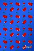 Journal: Blue red cherries notebook