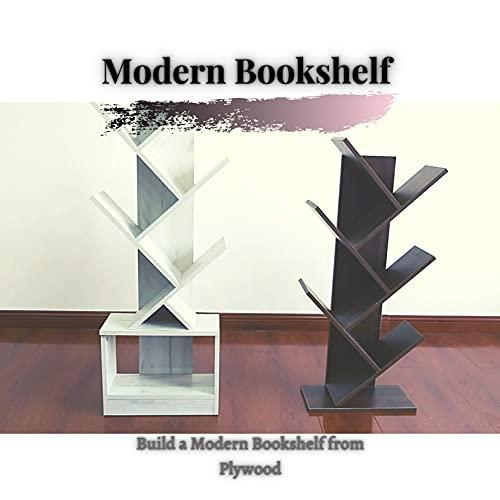Modern Bookshelf : Build а Modern Bookshelf from Plywood (English Edition)