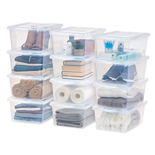 IRIS USA CNL-17 17 Quart Clear Storage Box, 12 Pack