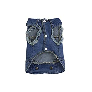 Dairyshop Chien doux Bleu jeans Denim Veste Vêtements, Cute Pet Cat Puppy Manteau Costume Apparel