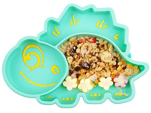 Piatto per bambini in silicone, Tappetini Antiscivolo con forte aspirazione adatta FDA e BPA Portatile per seggiolone e viaggi per Neonati Tovaglietta Piastra Divide