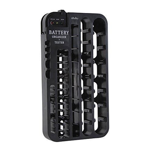 Learn More About Ohuhu Battery Organizer with Battery Tester (Removable), Wall Mountable