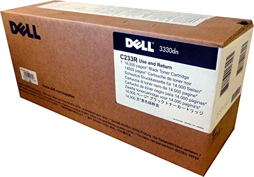 Dell C233R Black Toner Cartridge 3330dn Laser Printer