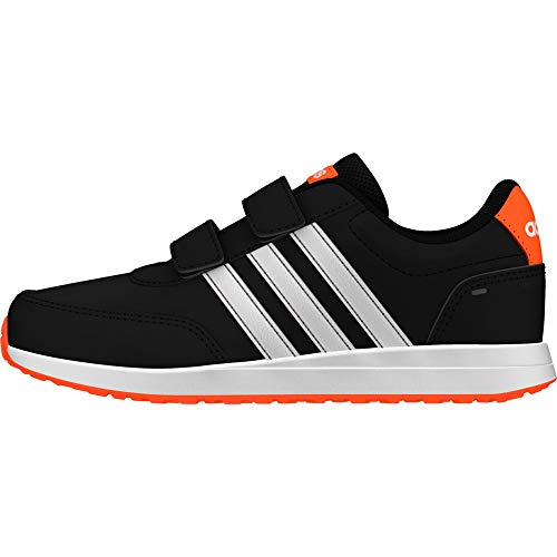 adidas Unisex-Kinder Vs Switch 2 Cmf Sneaker, Core Black/Footwear White/Solar Orange, 28 EU
