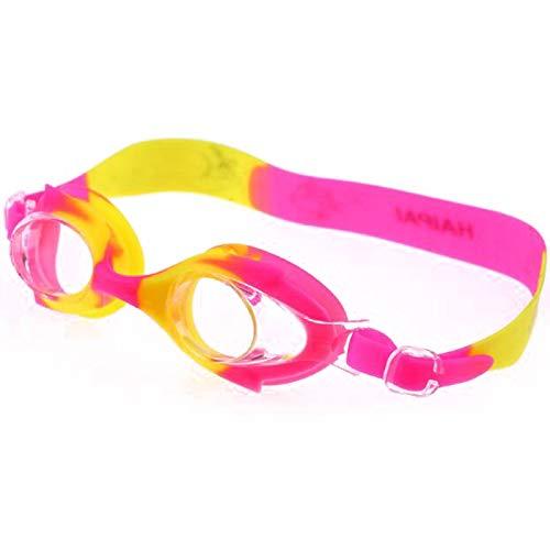 ZHENGLUSM Gafas de natación Dibujos Animados Peces Silicona Natación Gafas Niños Niños Nadando Piscina Buceo Agua Agua Deportes Gafas Colorida Impermeable Anti Niebla Nadar (Color : Hot Pink Yellow)