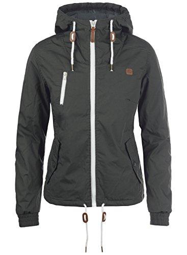 DESIRES Tilda Damen Übergangsjacke Jacke gefüttert mit Kapuze, Größe:XS, Farbe:Dark Grey (2890)