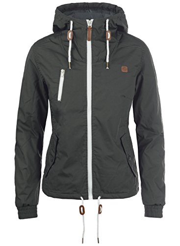 DESIRES Tilda Damen Übergangsjacke Jacke gefüttert mit Kapuze, Größe:XXL, Farbe:Dark Grey (2890)