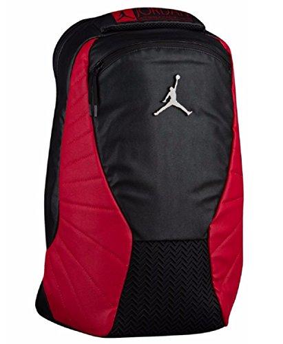 Nike Jordan Retro 12 Backpack W/ Laptop Pocket Black/Gym Red