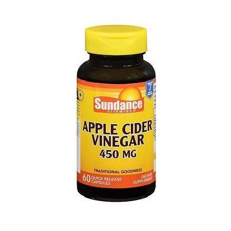 Sundance Apple Cider Vinegar 450 mg - 60 Quick Release Capsules
