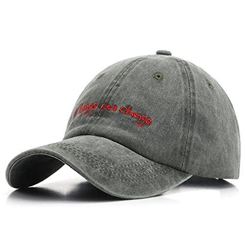 Gorra de béisbol Bordada para Hombres y Mujeres Sombrero de algodón Lavado Retro Gorra de Verano para el Sol Sombrero Snapback Informal Unisex -5