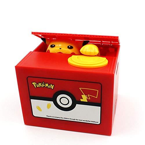 BWYFGRT Panda Cat Thief Spardosen Spielzeug Sparschweine Kinder Spardosen Automatische Stola Coin Piggy Bank Money Saving Box.Pikachu