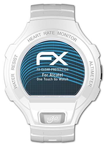 atFoliX Schutzfolie kompatibel mit Alcatel One Touch Go Watch Folie, ultraklare FX Bildschirmschutzfolie (3X)