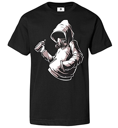 Customized by S.O.S Herren T-Shirt Graffiti (S, Schwarz)