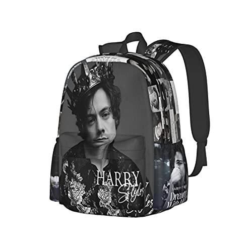 Mochila escolar unisex con impresión 3d Ha_Rry Poster Sty_Les Funny senderismo portátil Daypacks