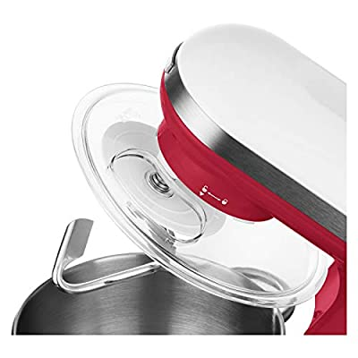 Sencor Stand Mixer 300W with Pouring Shield, Red