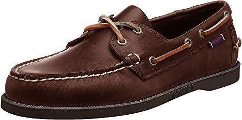 Sebago Docksides Portland Waxed, Chaussures bateau Homme, Marron (Brown-Gum), 42 EU