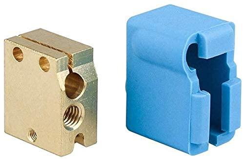 Nuevas Piezas de Impresora a estrenar Calcetines de Silicona Origina Volcano Bloque Calefactor Tipo de Cartucho Silicona V6 J-Head Hotend Bowden/Extrusor Directo Apto para 3D Piezas de Impresora nue