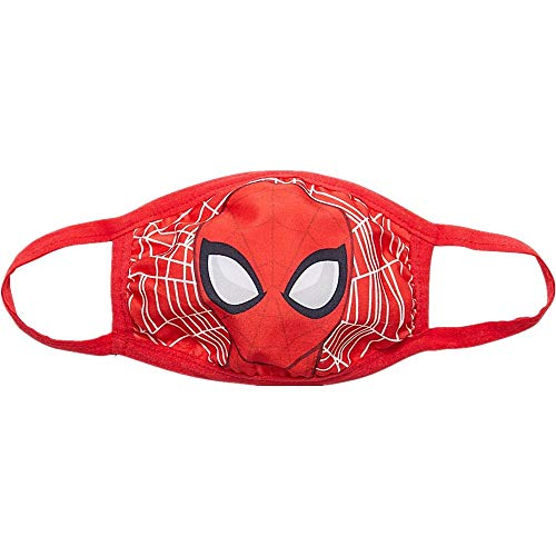 Marvel Spiderman Mask for Kids | Reusable Cloth Face Mask | Washable & Breathable & Protective | Superhero Kids Face Mask Red
