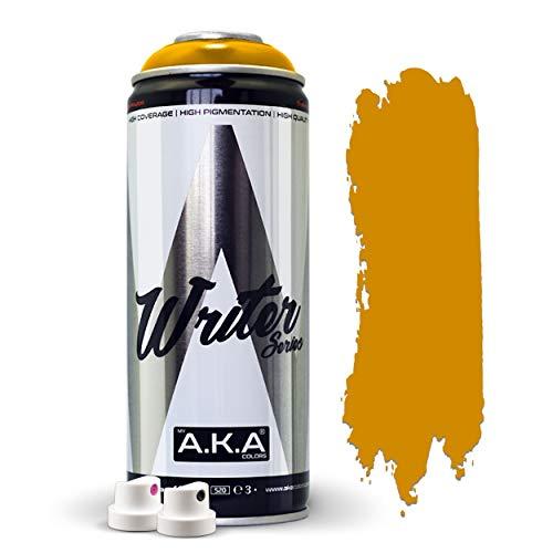 Spray de Pintura Acrílica 400ml + x2 Difusores Incluidos (Ancho y Fino) – Bricolaje, Decoración. Pintura Universal (Metal, Madera, Aluminio, Plástico, etc.) (Marrón Cartón (Ocre))