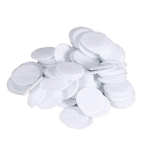 Salmue 100 Piezas de Filtro de algodón, Opcional 7 diámetros Diferentes Filtros de algodón Reemplazo de filtros de vacío faciales Accesorios Filtro de Esponja para máquina de Belleza(15mm)