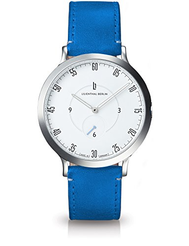 Lilienthal Berlin Herren Analog Quarz Uhr mit Leder Armband L01-101-B017A