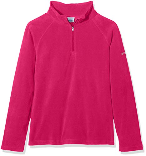 Columbia Fleecejacke für Mädchen mit halbem Reißverschluss, Glacial Fleece Half Zip, Polyester, Rosa (Cactus Pink), Gr. L, 1556943