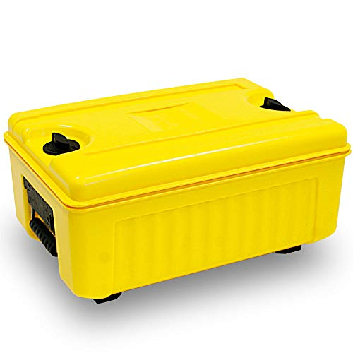 Isolier-Transportbox, -40° bis +100°C, Top-Lader, 35 Liter, gelb, BxTxH 620 x 420 x 405 mm, Polyethylen (PE-HD/EPS)