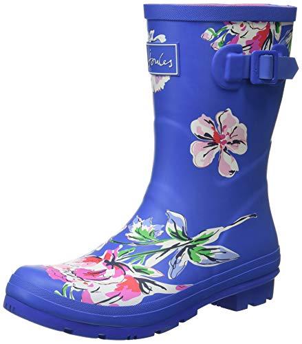 Joules Damen Molly Welly Gummistiefel, Blau Multi Blumen, 42 EU