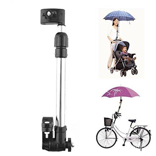 Muttiy verstellbare Fahrradhalterung für Regenschirme, drehbarer Griff, Gestell für Fahrrad, Kinderwagen, Rollstuhl