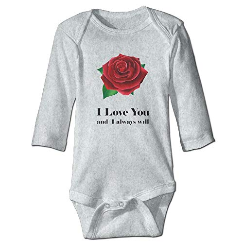 FGRYGF Body à Manches Longues, Babywear, Baby Jumpers, Baby Infant I Love You Red Rose Bodysuit Outfits