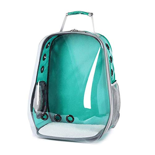 Stella Fella Pet Bag, Transparent Pet Backpack Panoramic Side Opening Out Portable Shoulder Pet Supplies Pet Space Capsule Backpack,A
