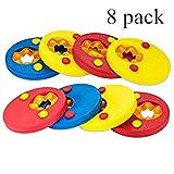 8 Piezas Discos Flotantes para niños,Espuma Mangas del Brazo de Flotabilidad Círculos Anillos,Manguitos para Aprender a Nadar Gradualmente