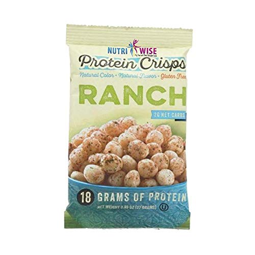 NutriWise - Ranch Protein Crisps | 7/Bags | Healthy Delicious Diet Snack | Gluten Free, Low Fat, Low Sugar, Low Carb by NutriWise - by Doctors Best Weight Loss