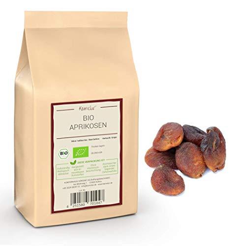 1kg BIO Aprikosen getrocknet ohne Zusätze - getrocknete Aprikosen ungeschwefelt und ungezuckert – getrocknete BIO Früchte soft