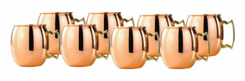 Old Dutch 2-Ounce Solid Copper Moscow Mule Shot Mugs, Set of 8