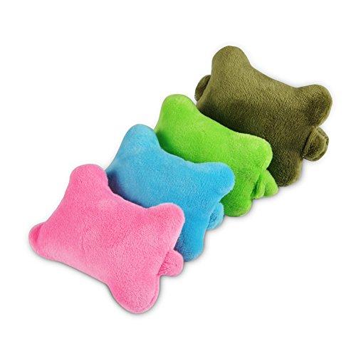 4 Stück Kreative Mini Maus Handgelenkauflage Handgelenkstützen Computermäuse pads Pad Stützkissen Mädchen Haar Band mit Gummiband für Computer und Laptops (Rosa+Blau+Grün+Armeegrün)