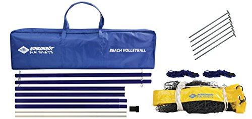 Schildkröt Volleyball Netzgarnitur, robustes Beachvolleyball Netz, 2,43m x 9,5m, inkl. Pfosten, in Tasche, 970995