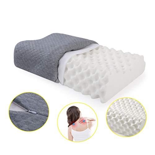 DHR- Antischnarchkissen Latex Kissen Granule Massage-Kissen for Verbesserung der Schlaflosigkeit Behandlung Nackenmassage, Contour Gedächtnis-Kissen, verringern Schnarchen, Entlasten Hals sollte Schme