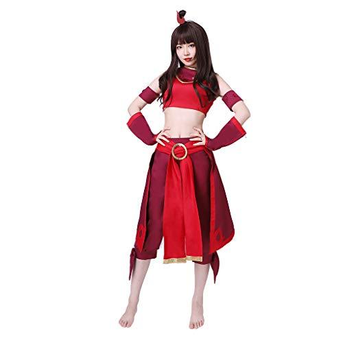 CosplayDiy Women's Suit for Avatar The Last Airbender Suki Cosplay Costume Custom Made