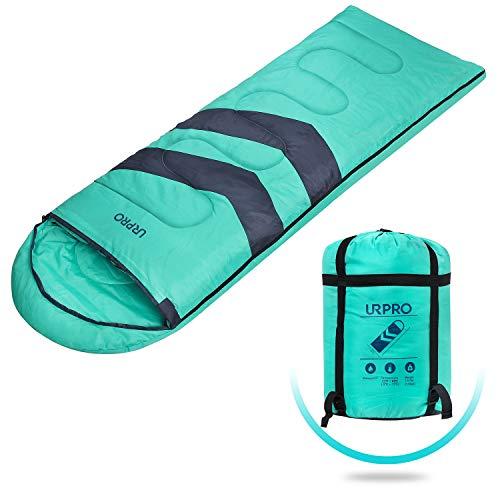 URPRO 3 Jahreszeiten Schlafsack Bedeckt Winter, Herbst, Frühling, Hergestellt aus 150 G/M㎡X 2.100% Hohlfaser und, Hautfreundlich Wasserabweisend SB2275G