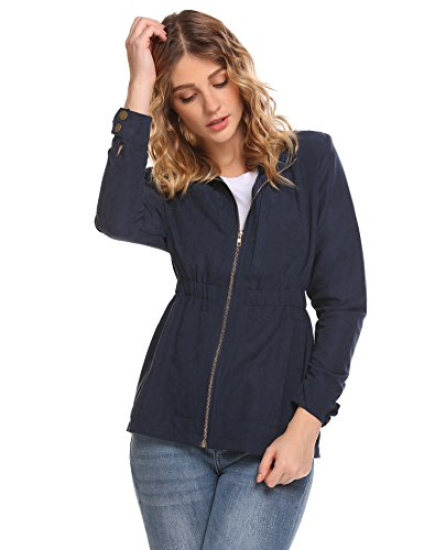 SummerRio Women's Faux Leather Jackets Long Sleeve Zipper Jacket Coats