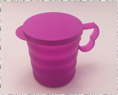 Tupperware Junge Welle Tasse mit Deckel lila 350ml