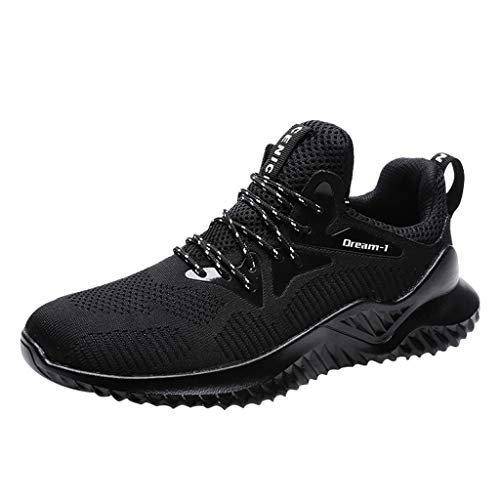Alwayswin Laufschuhe Herren Turnschuhe Sportschuhe Straßenlaufschuhe Sneaker Atmungsaktiv Trainer für Running Fitness Gym Outdoor Leichtes Bequem