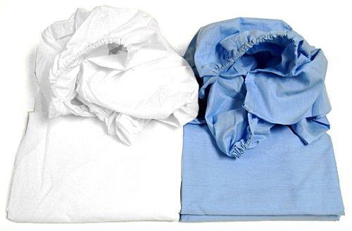 Cot Sheets (Fitted, Flat, Sets), 1 Fitted Cot Sheet - White