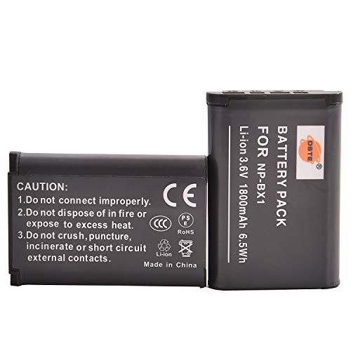 DSTE® 2x NP-BX1 Li-ion Batería para Sony Cyber-shot HDR-CX240, HDR-CX240E, HDR-MV1, HDR-PJ240E, HDR-PJ275, DSC-RX1, DSC-RX1B, DSC-RX1R, DSC-RX1R/B, DSC-RX100, DSC-RX100/B, DSC-RX100 II, DSC-RX100 III, DSC-RX100M2, DSC-RX100M2/B, DSC-RX100M3, DSC-HX300,DSC-H400, DSC-HX400, DSC-HX50, DSC-HX50V/B, DSC-HX50VB, DSC-HX60, DSC-HX60V, DSC-WX300, DSC-WX300/B, DSC-WX300/L, DSC-WX300/R, DSC-WX300/T, DSC-WX300/W, DSC-WX350,HDR-AS15, HDR-AS15B, HDR-AS15S, HDR-AS100V, HDR-AS100VR, HDR-AS20, HDR-AS30V, HDR-AS10,HDR-GW66, HDR-GW66V, HDR-GW66VE, HDR-GWP88, HDR-GWP88V, HDR-GWP88VB, HDR-GWP88VE Cámara come NP-BX1 NP-M8